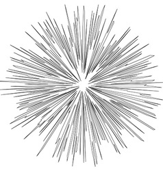Black hole of Explosion Radial lines vector image
