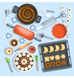 Bakery Cartoon Set vector image