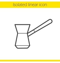 Turkish cezve icon vector