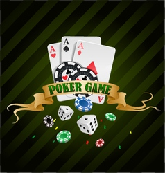 Poker gambling chips poster vector
