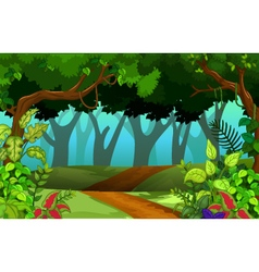 Beautiful forest for you design vector