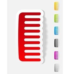Realistic design element comb vector