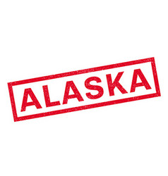 Alaska rubber stamp vector