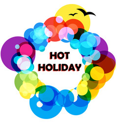 background hot holiday vector image