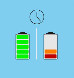 battery different power status vector image