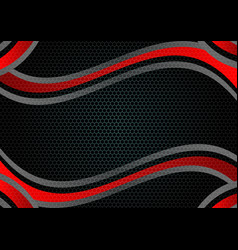 black and red color abstract geometric background vector image vector image