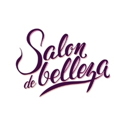 Calligraphy Logo Beauty Salon vector image vector image