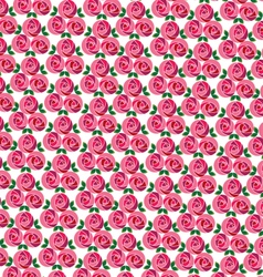 Clustered mod rose pattern vector
