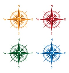 Colourful compasses vector