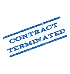 Contract terminated watermark stamp vector