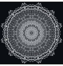 Detailed lace mandala vector