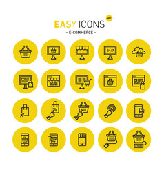 easy icons 40c e-commerce vector image vector image