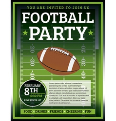 Football Flyer vector image vector image