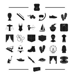 Furniture sport equipment and other web icon in vector