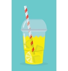 glass with lemonade vector image vector image