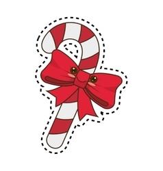 Happy merry christmas cane style kawaii vector