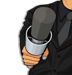 Host Holding Microphone vector image vector image