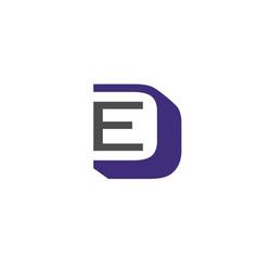 Letter ed logo vector