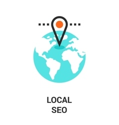 Local seo icon vector