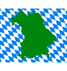 map and flag of bavaria vector image