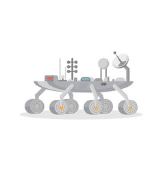 Mars exploration rover isolated icon vector