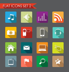 network and communication icons vector image