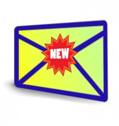 NEW email icon vector image vector image
