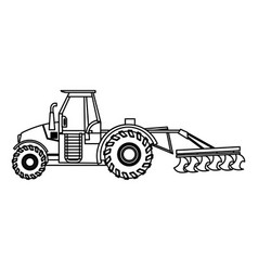 Plowing tractor agriculture vehicle concept vector