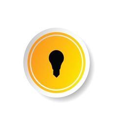 Sticker of lightbulb icon vector