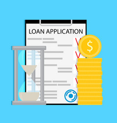time to pay loan concept vector image vector image