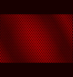 red metal perforated background vector image
