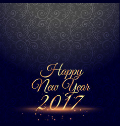 Amazing happy new year 2017 celebration vector
