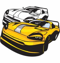 Sports car design vector