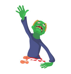 Zombie without lower body icon cartoon style vector