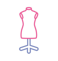 sewing mannequin vector image