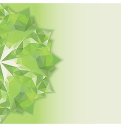 Green triangle crystal vertical vector