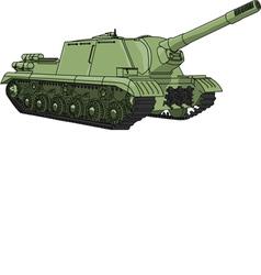 self propelled gun vector image