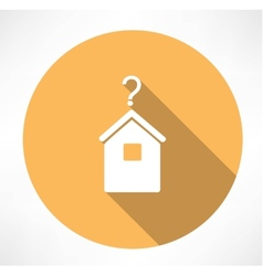 House with question mark icon vector