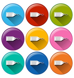 Circle buttons with tags vector