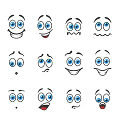 Smiles with emotions vector