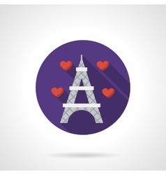 Round flat color romantic travel icon vector