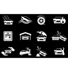 Car insurance icons vector
