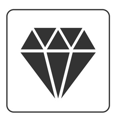 Diamond icon 2 vector