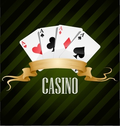 poker poster casino vector image