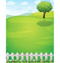 A giant tree at the hilltop vector image vector image