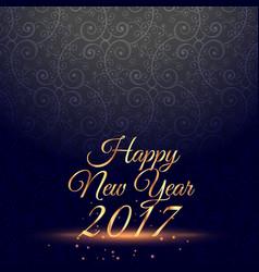 Amazing happy new year 2017 celebration vector