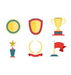 Award badges collection vector
