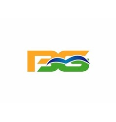 Bg initial company group logo vector