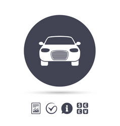 Car sign icon delivery transport symbol vector