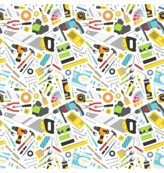 Construction tools icons seamless pattern vector